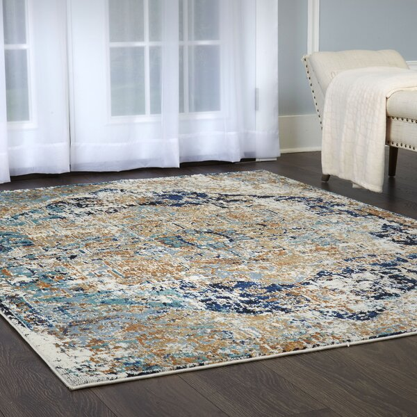 Heritage Cotton Blue/Gray Area Rug by Shabby Chic