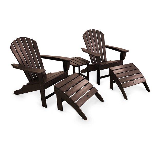 South Beach Adirondack 5-Piece Seating Group by POLYWOOD POLYWOOD®