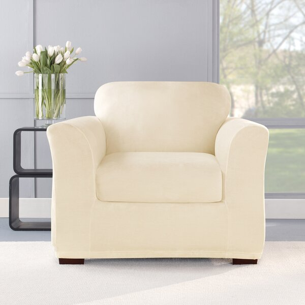 Stretch Plush 2 Piece Chair Slipcover Set By Sure Fit