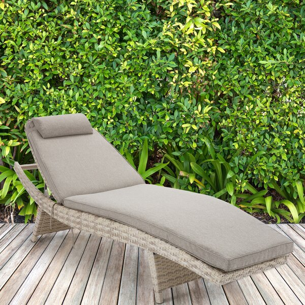 Pantoja Chaise Lounge with Cushion by Bungalow Rose