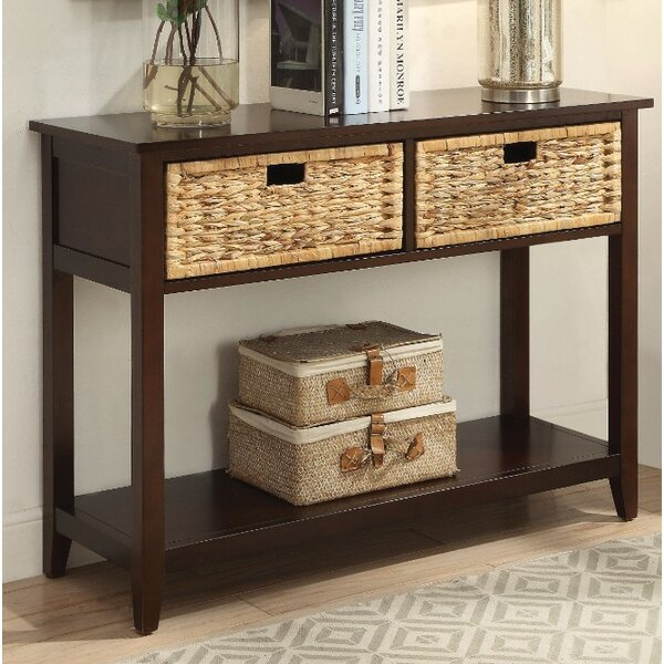 Review Bouknight 2 Drawer Console Table