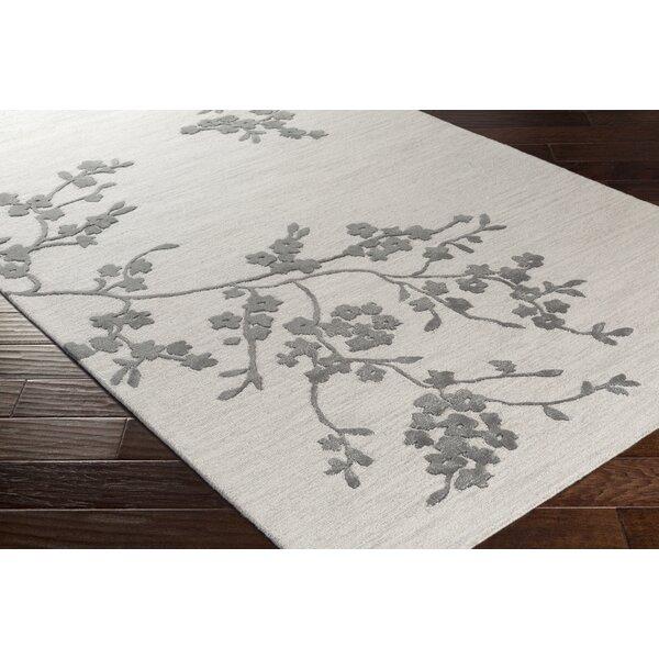 Kiely Hand-Tufted Light Gray/Charcoal Area Rug by Ophelia & Co.