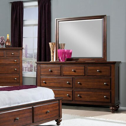 Whitcomb 7 Drawer Dresser with Mirror by Darby Home Co