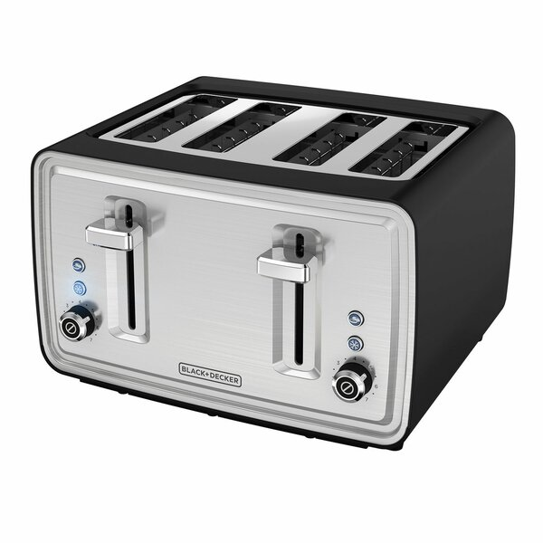 4 Slice Extra-Wide Slots Toaster by Black + Decker