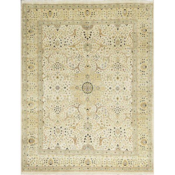 One-of-a-Kind Hand-Knotted Wool Beige/Ivory Area Rug by Bokara Rug Co., Inc.