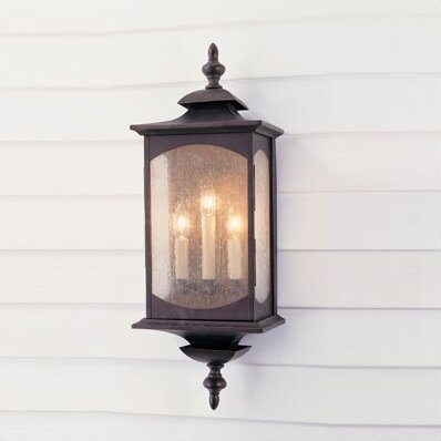 Abrahams 3-Light Outdoor Wall Lantern by Charlton Home