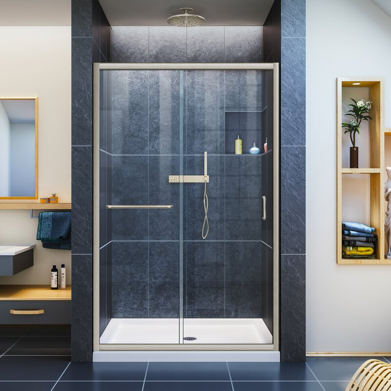 Dreamline infinity z 48 x 72 single sliding frameless shower door infinity z 48 x 72 single sliding frameless shower door eventshaper