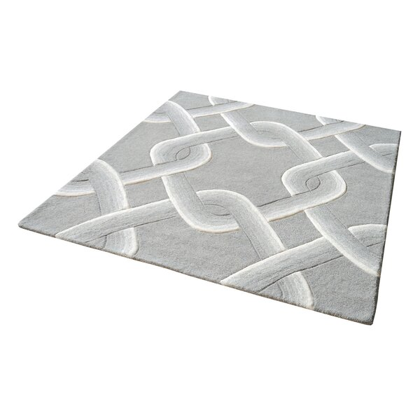 Rowes Hand-Tufted Gray Area Rug by Andover Mills