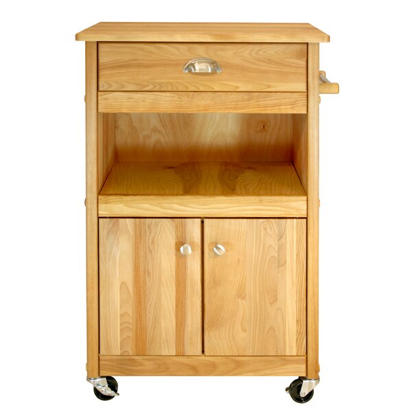 Cuisine Kitchen Cart with Butcher Block Top by Catskill Craftsmen, Inc.
