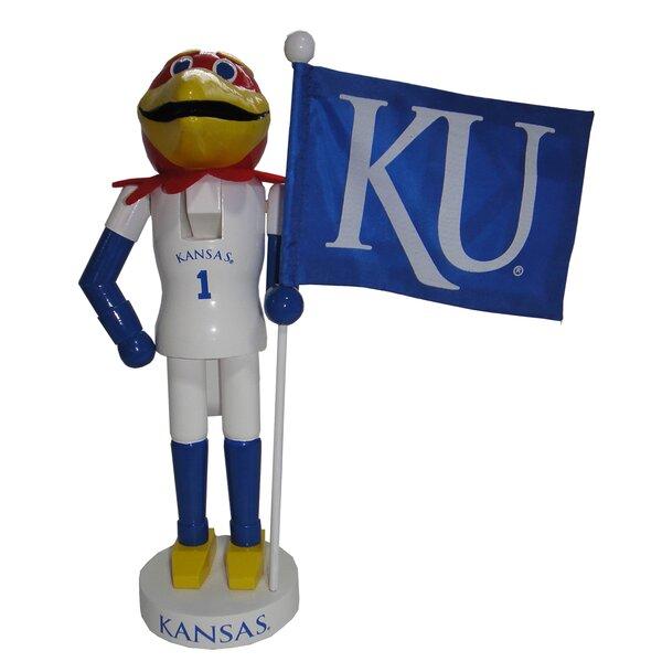 Kansas Mascot Nutcracker with Flag by Santa's Workshop