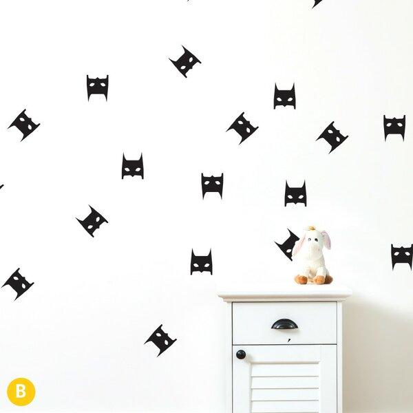 Gretchen Bat Mask Wall Sticker/Decal by Harriet Bee