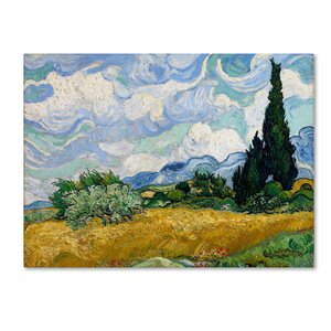 'Yellow Wheat and Cypresses' by Vincent van Gogh Print on Wrapped Canvas by Trademark Fine Art