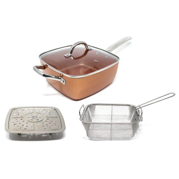 8 Piece Square Non-Stick Cookware Set by Concord Cookware