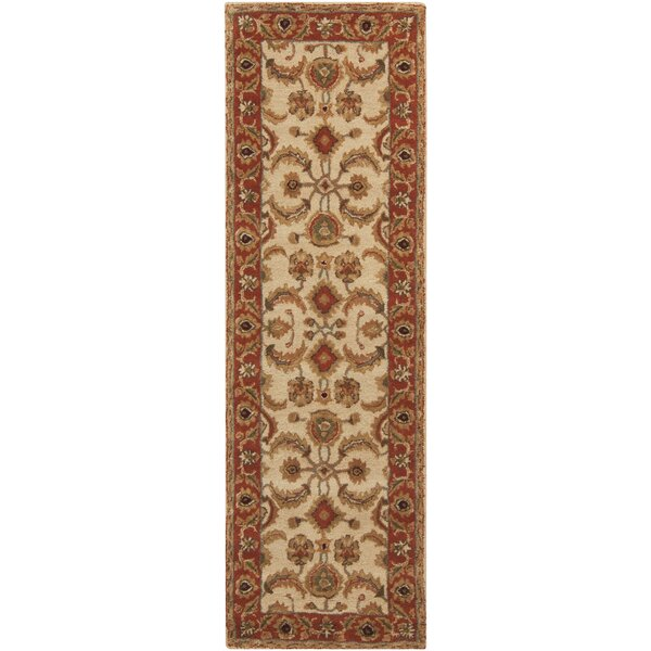 Arcadia Hand-Tufted Red/Brown Area Rug by Fleur De Lis Living