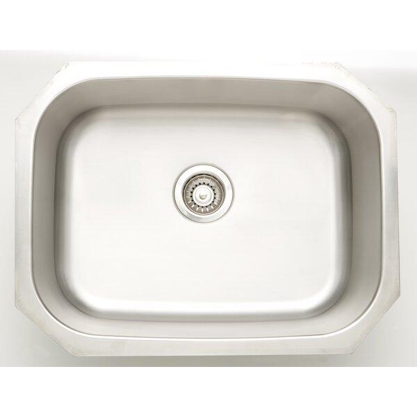 25 L x 9 W Undermount Kitchen Sink with Basket Strainer