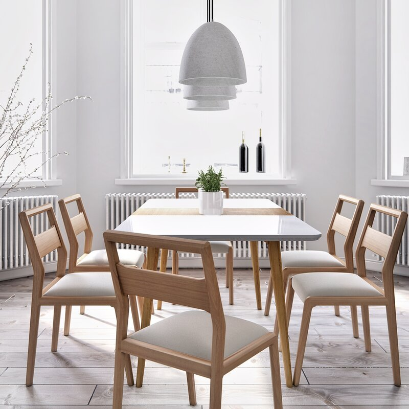 Extending Dining Room Table kure marcus extendable dining table & reviews | wayfair