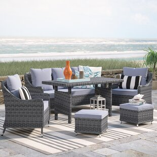 Arcellinna 6 Piece Sectional Set with Cushions By Beachcrest Home