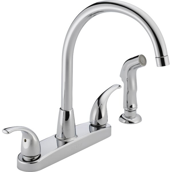 Double Handle Kitchen Faucet with Side Spray by Peerless Faucets