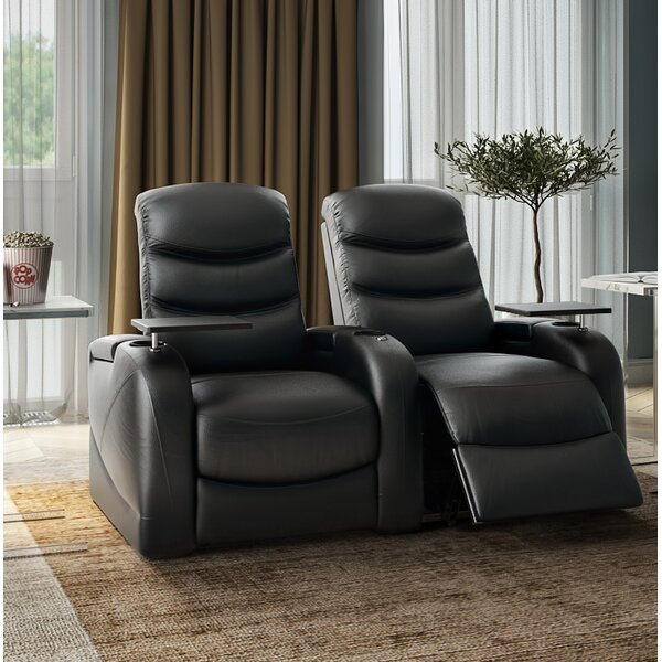 Leather Home Theater Row Of 2 By Orren Ellis