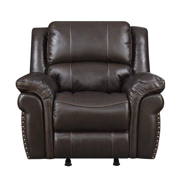 Everardo Leather Manual Rocker Recliner by Darby Home Co