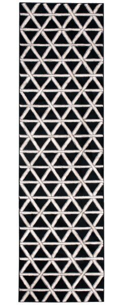 Hollywood Shimmer Metro Crossing Black/Gray Area Rug by Kathy Ireland Home