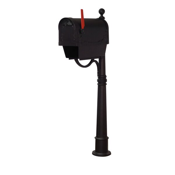 Floral Curbside Mailbox with Ashland Post Included by Special Lite Products