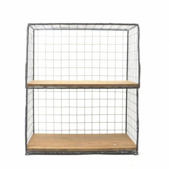 Metal/Wood 2 Shelf Organizer by Mr. MJs