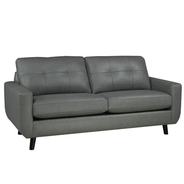 Lathrop Genuine Leather Sofa by Brayden Studio