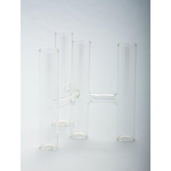 Glass Candelabra by Diamond Star Glass