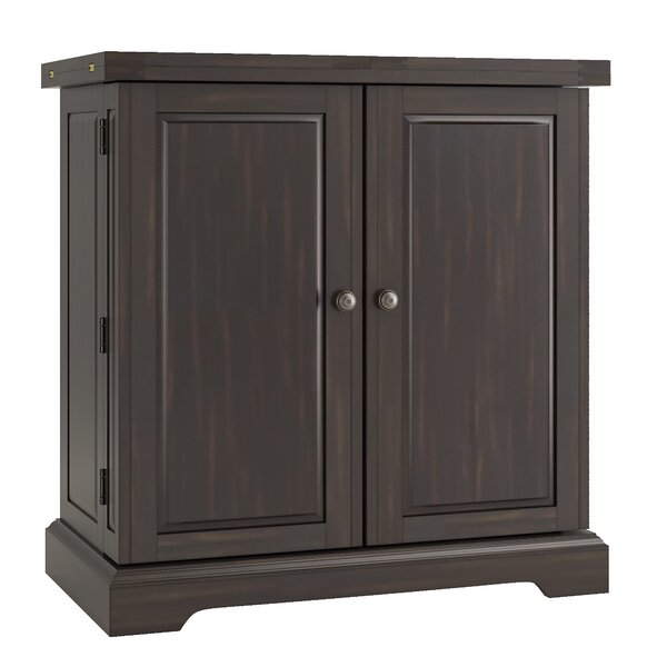 Rheingold Bar Cabinet with Wine Storage by Three Posts