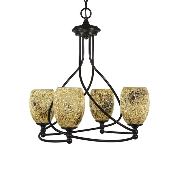 Skypark 4 - Light Shaded Geometric Chandelier by Winston Porter Winston Porter