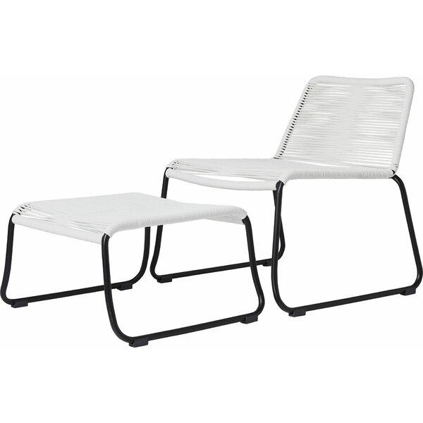 Barclay Patio Chair and Ottoman by Modloft