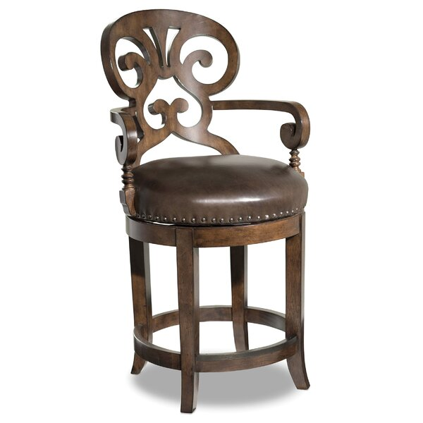 Jameson 24 Swivel Bar Stool by Hooker Furniture