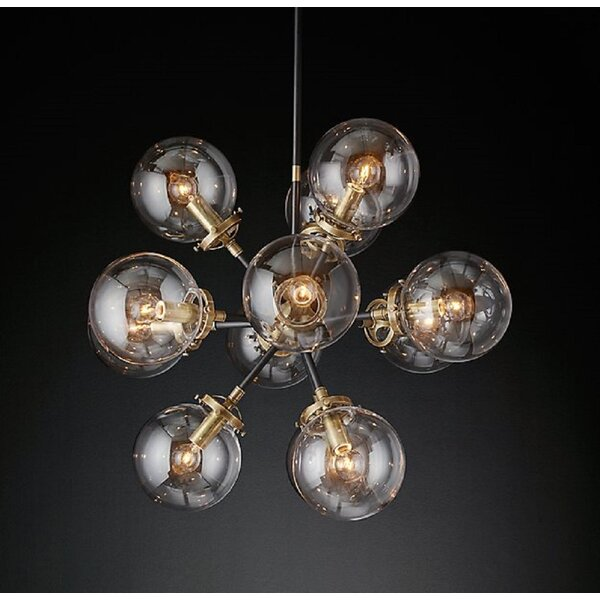 Nero 12 - Light Sputnik Sphere Chandelier by Wrought Studio Wrought Studio