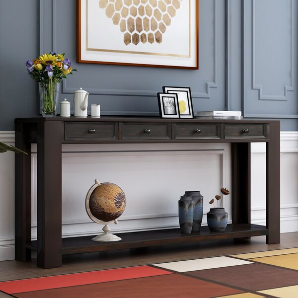 Latitude Run Black Console Tables