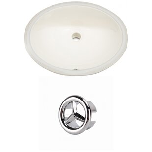 Comparison Ceramic Oval Undermount Bathroom Sink with Overflow ByAmerican Imaginations