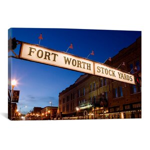 'Fort Worth Stockyards, Fort Worth, Texas' Photographic Print on Canvas by East Urban Home