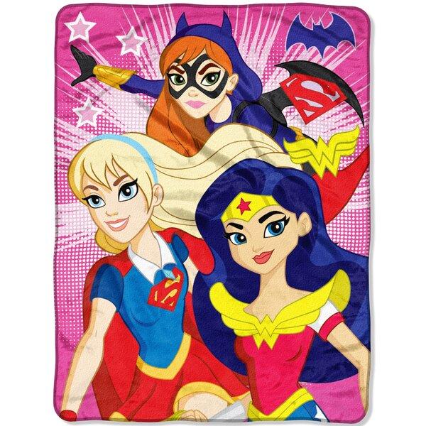 Super Hero Girls Look Sharp Throw by Northwest Co.
