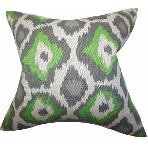 Camillei Ikat Cotton Throw Pillow by Latitude Run