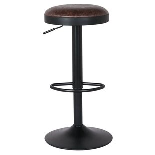 Gillham 23 Adjustable Height Swivel Bar Stool (Set of 2) by Williston Forge