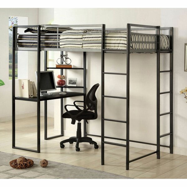 Deodar Workstation Loft Bed by Andrew Home Studio