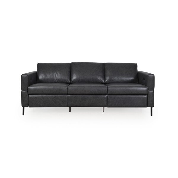 Best Reviews Of BelvideraLeather Reclining Sofa by Brayden Studio by Brayden Studio