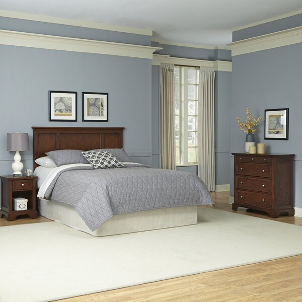 Borden Panel 3 Piece Bedroom Set by Three Posts