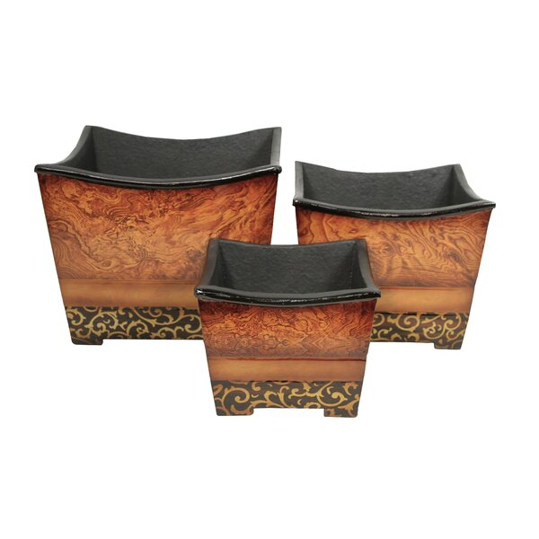 3-Piece Manufactured Wood Pot Planter Set by Cheungs