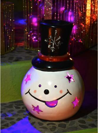 Snowman Top Hat Luminary by Ravenna