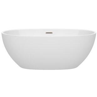 Affordable Juno 63 x 32 Freestanding Soaking Bathtub ByWyndham Collection