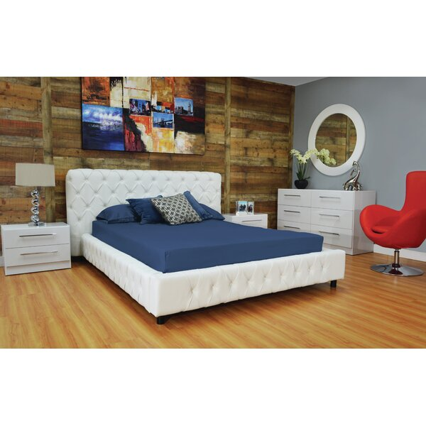 Haskett Button Tufted Upholstered Platform Bed by Brayden Studio