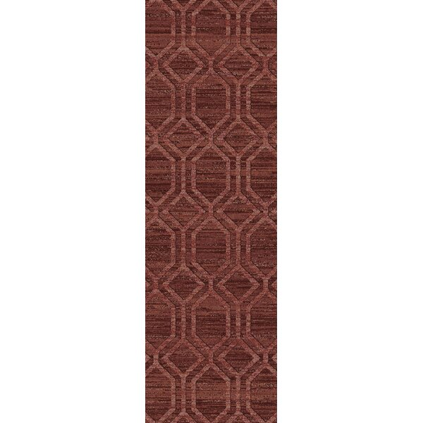 Limewood Burgundy/Chocolate Area Rug by Darby Home Co