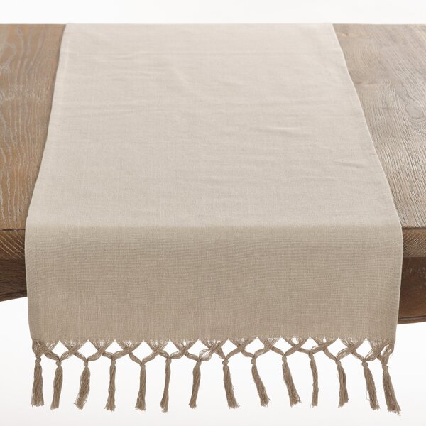 Bellaria Knotted Tassel Table Runner by Saro