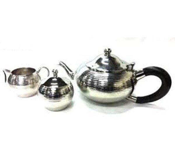 Lizarraga Nickel Plated Non Tarnish 3 Piece Stainless Steel Tea Set by Winston Porter